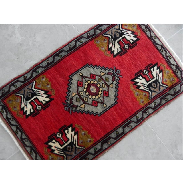 Small Turkish Accent Rug For Sale - Image 4 of 8