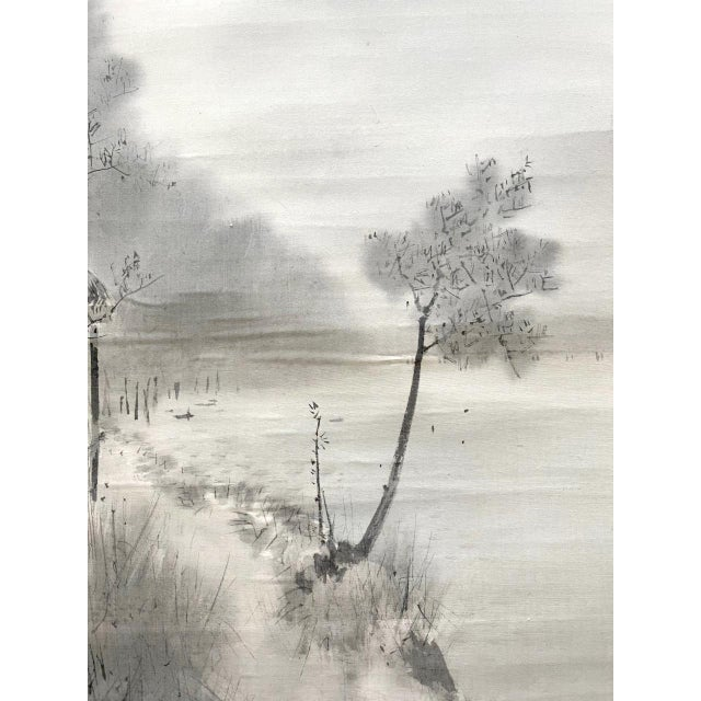 1900 - 1909 Triptych Scroll Paintings by Watanabe Seitei Meiji Period - Set of 3 For Sale - Image 5 of 13