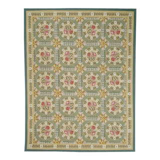"""Pasargad Aubusson Hand Woven Wool Rug - 9' 7"""" X 14' 1"""""""