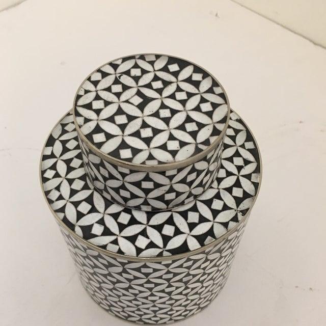 Art Deco Contemporary Decorative Cloisonné Jar For Sale - Image 3 of 7