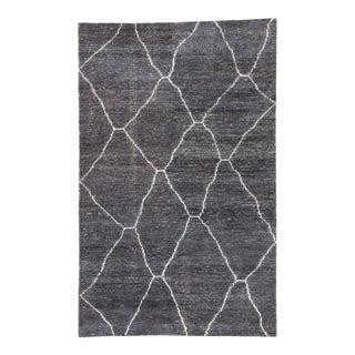 Jaipur Living Carmine Handmade Geometric Dark Gray/ Blue Area Rug - 9'x13' For Sale