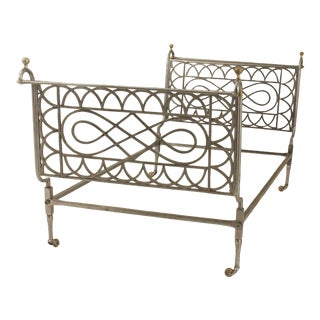 French Empire Style '19th-20th Century' Steel and Brass Trimmed Daybed For Sale