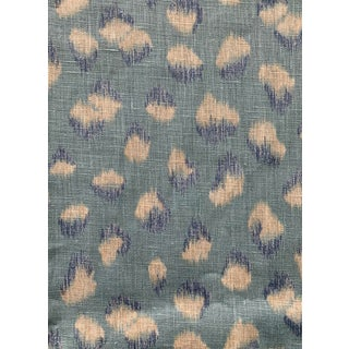 1 Yard Groundworks Feline Linen Fabric For Sale