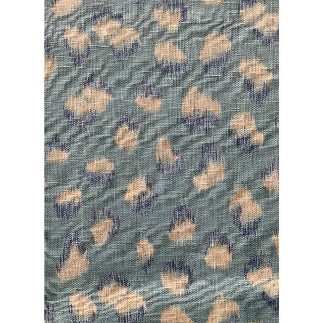 1 Yard Groundworks Feline Linen Fabric For Sale
