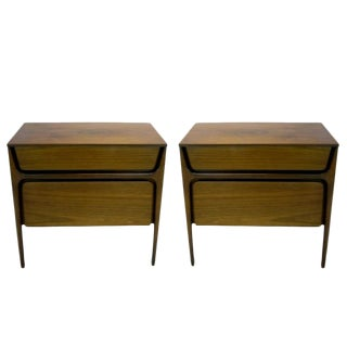 Pair of Stilt Leg Sculptural Nightstands by John Cameron Distinctive Furniture For Sale