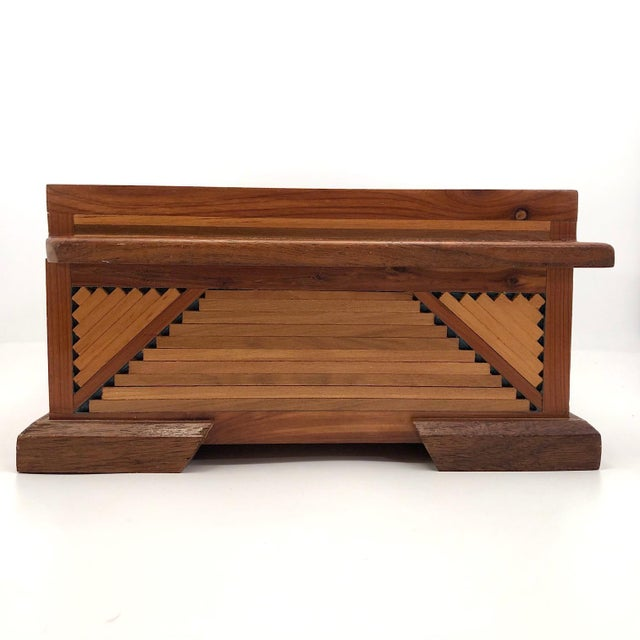 Mid-Century Tramp Art Jewelry Box For Sale - Image 11 of 13