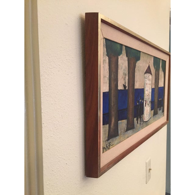 Original Mid-Century Modern Signed Oil Painting on Canvas For Sale - Image 12 of 12
