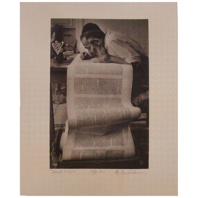 1970s Israeli Scribe Photograph by Archie Lieberman For Sale - Image 5 of 5