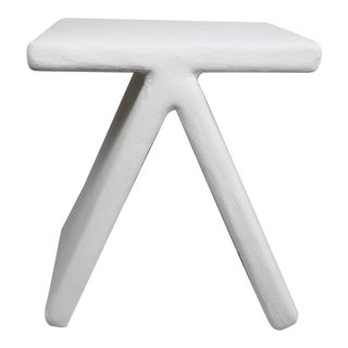 The Elsa Geometric Plaster Accent Table For Sale