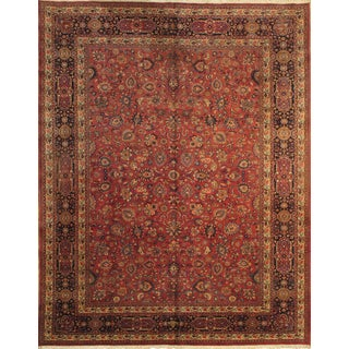 "Pasargad NY Persian Mashad Hand-Knotted Rug - 10'2"" x 13' For Sale"