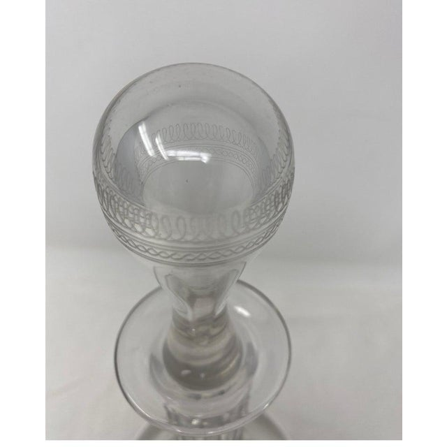 Antique Baccarat crystal decanter with stopper. 19th century.