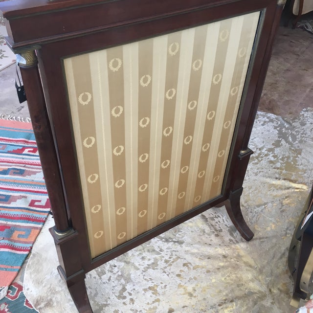 Mahogany Antique French Empire Mahogany Fire Screen For Sale - Image 7 of 10