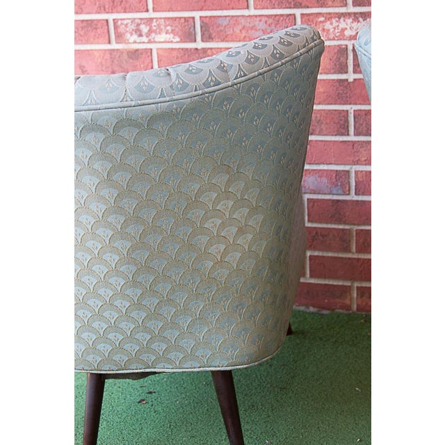 50's Era Slipper Chairs With Tapered Legs - A Pair - Image 6 of 10