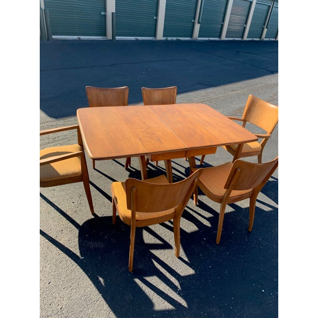 Mid-Century Modern Vintage Mid-Century Heywood Wakefield Table and Chair Set For Sale - Image 3 of 4