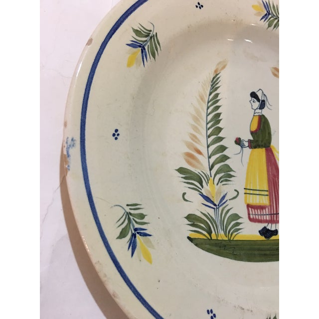 1940s 1940s French Henriot Quimper Porcelain Plate For Sale - Image 5 of 8