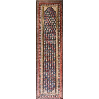 "Early 20th Century Soumak Kilim Runner-4'2"" X 15'8"" For Sale"