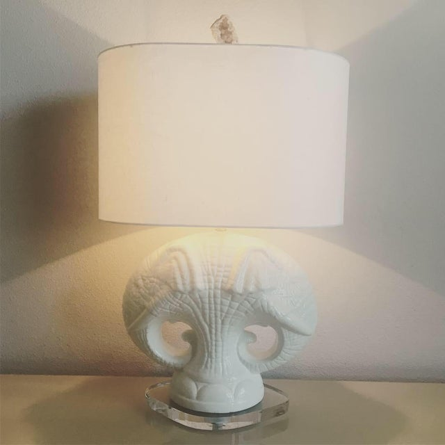 Italian Elephants Lamp & Shade For Sale In Austin - Image 6 of 13