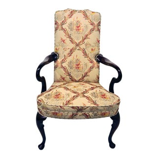 Queen Anne-Style Accent Chair For Sale