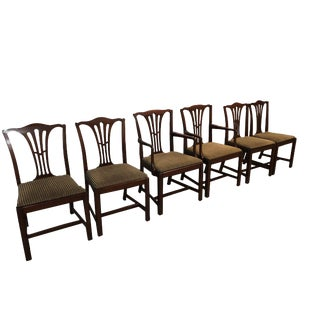 1940's Vintage Baker Furniture Dining Chairs- Set of 6 For Sale