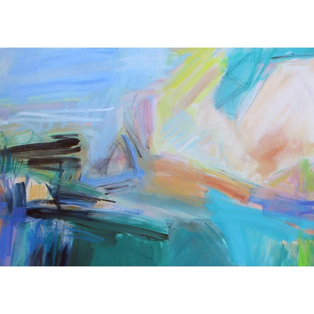 """""""Remembering Bermuda"""", a stunning abstract expressionist painting, by Trixie Pitts, a Super Seller on Chairish. The more..."""