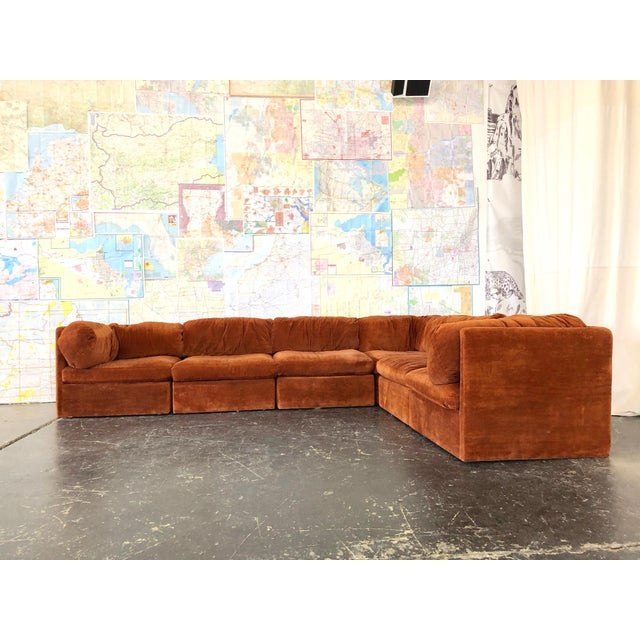 Fabric Eight Piece Modular Sofa by Milo Baughman for Thayer Coggin For Sale - Image 7 of 13