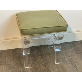 Midcentury Lucite Curule Bench Preview