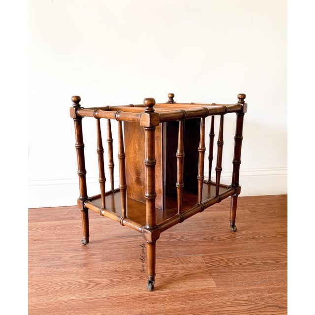 Hollywood Regency Hollywood Regency Faux Bamboo Magazine Racks For Sale - Image 3 of 8