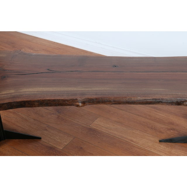 Solid Walnut Wood Slab Coffee Table - Image 9 of 10