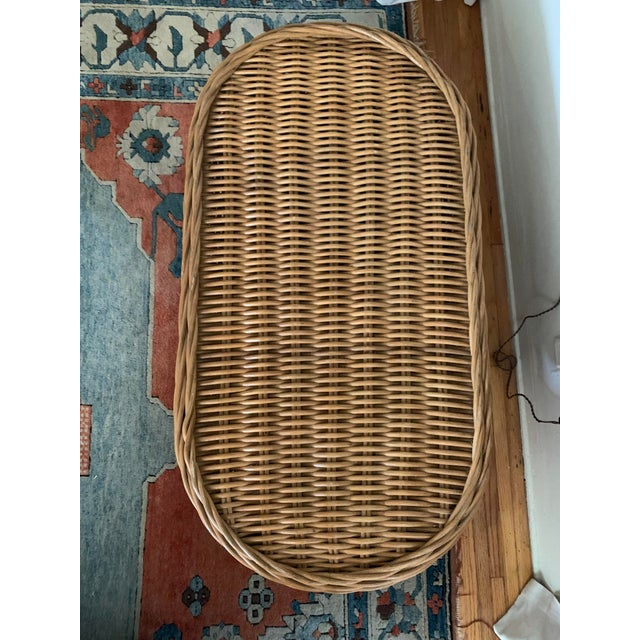 Wicker Vintage Wicker Coffee Table For Sale - Image 7 of 8