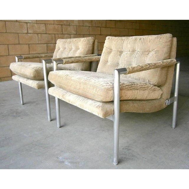 1960s Aluminum Club Chairs - A Pair - Image 4 of 7