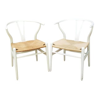 Mid-Century Danish Hans Wegner Wishbone Chairs - A Pair For Sale