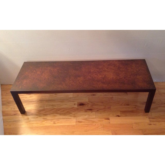 Mid Century Modern Coffee Table Lane Altavista Virginia Faux Tortoise Shell Top Chairish