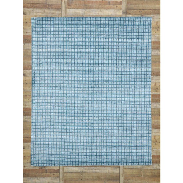 Contemporary Beach Style Area Rug - 8′1″ × 9′10″ For Sale - Image 9 of 10