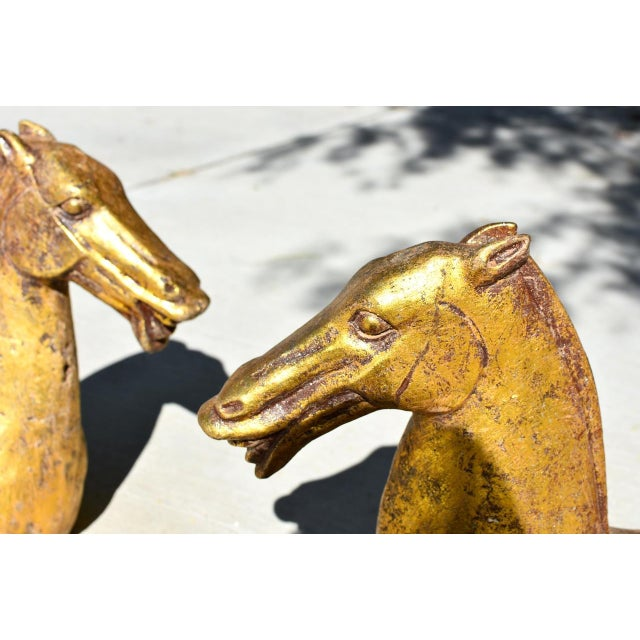 Stunning iron horse busts are heavy and substantial. The original design came from the ancient Han dynasty (206 BC -220...