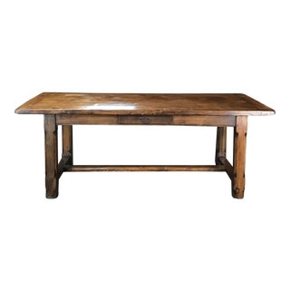 19th Century Country French Farmhouse Refectory Dining Table For Sale