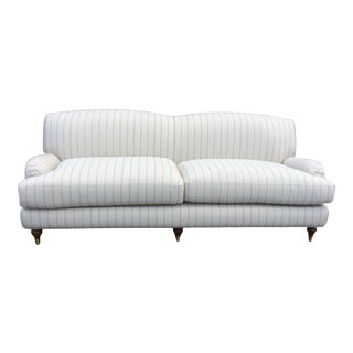 White English Club Sofa For Sale
