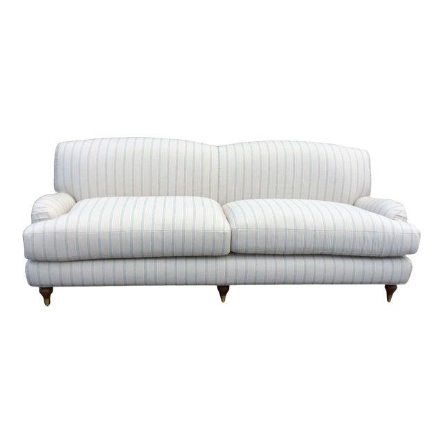 White English Club Sofa For Sale