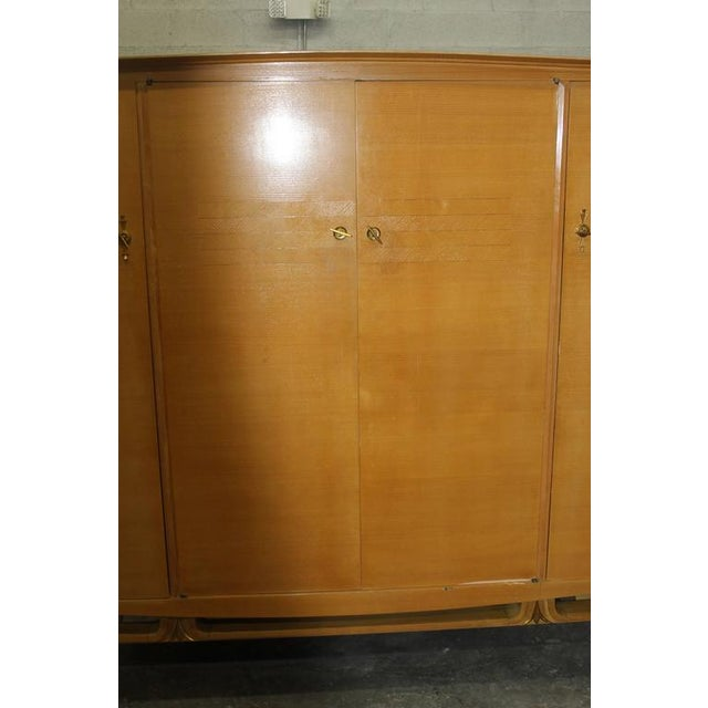 French Art Deco Sycamore Armoire - Image 5 of 7