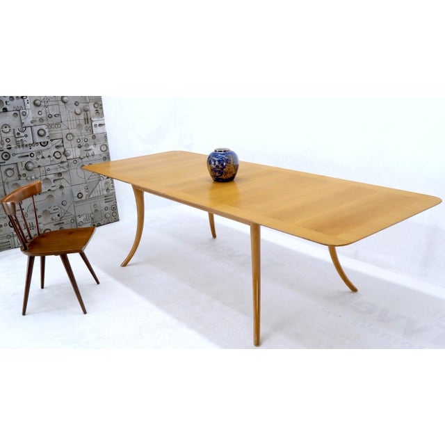 Wood Gibbings for Widdicomb Klismos Style Dining Table with Two Extension Boards For Sale - Image 7 of 13