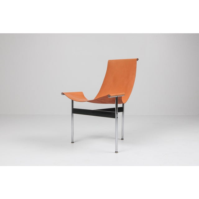 Leather Katavolos, Kelley and Littell T-Chairs in Original Cognac Leather - 1970s For Sale - Image 7 of 10