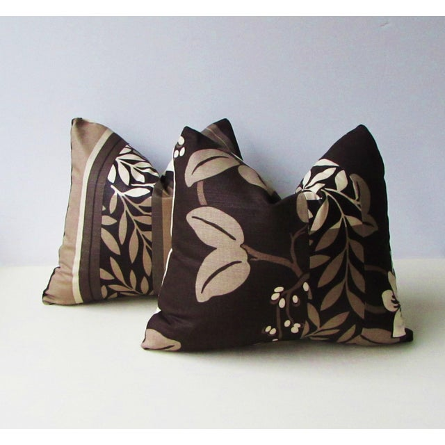 Abstract Romo Black & White Modern Floral Pillow Covers - a Pair For Sale - Image 3 of 8