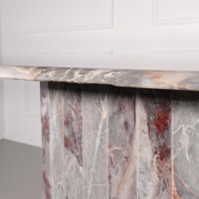 Oval Salome Marble Pedestal Dining Table, Italy, 1970s For Sale - Image 4 of 13