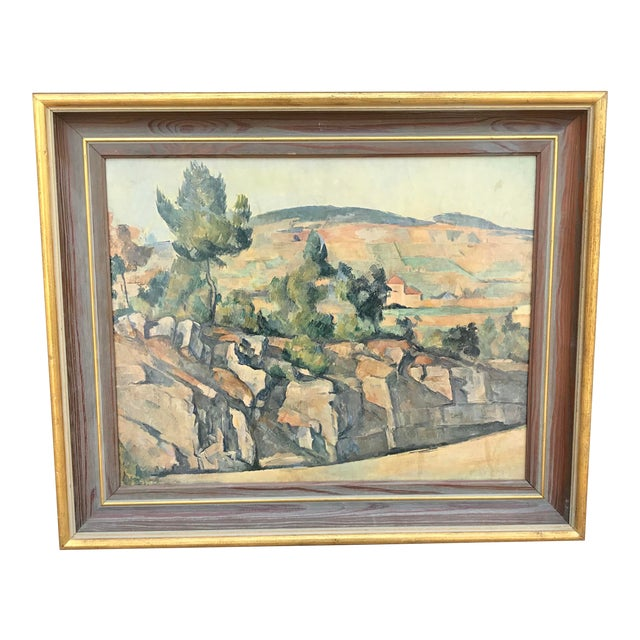 Vintage Italian Landscape Scene Print, Framed For Sale