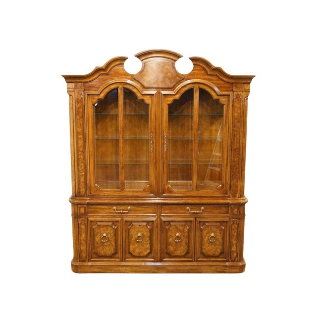 """Thomasville Furniture Contessina Collection 72"""" Lighted China Cabinet For Sale"""
