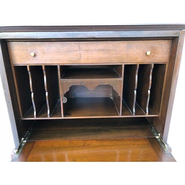 1900 - 1909 Antique Solid Wood Desk For Sale - Image 5 of 11