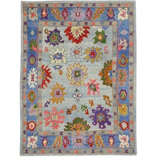 "Contemporary Turkish Oushak Rug - 8'2"" X 10'10"" For Sale"