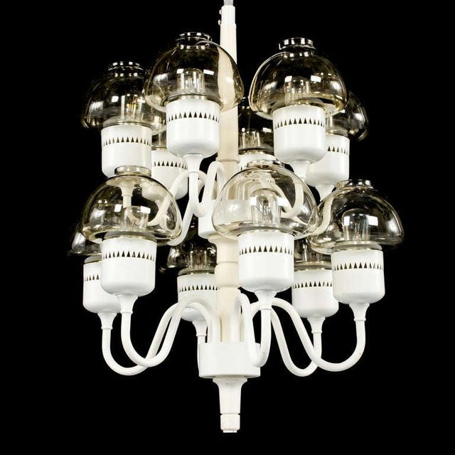Chandelier by Hans-Agne Jakobsson, Markaryd, Sweden, circa 1960s. H-136cm. Existing European wiring, re-wiring available...