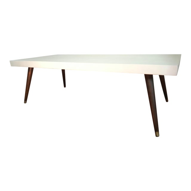 Mid-Century Modern Painted Coffee Table - Image 1 of 6
