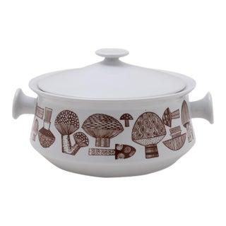 1960s Kaj Franck for Arabia Finland Covered Mushroom Ceramic Serving Dish For Sale