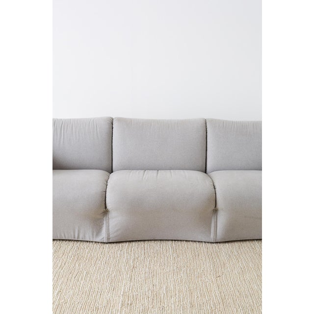 Mario Bellini for Cassina Tentazione Upholstered Sofa For Sale - Image 9 of 13